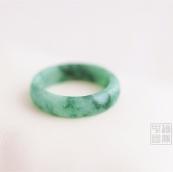 Bague jade vert clair