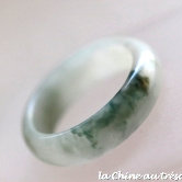 Bague jonc jade blanc