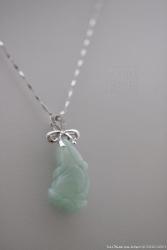 pendentif chou chinois en jade vert