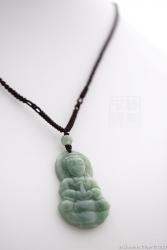 Pendentif jade béni vert impérial
