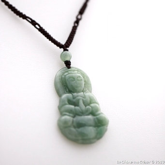 grossiste 161ea 5df11 Pendentif jade béni vert impérial