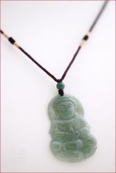 Pendentif guanyin en jade vert impérial