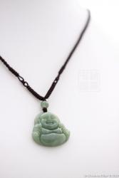 Pendentif béni jade  vert impérial