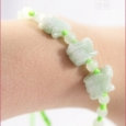 Bracelet cordon lapin en jade