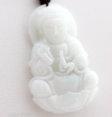 Guanyin en jade blanc