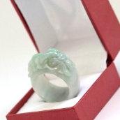 Bague jade dragon