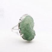 Bague argent Pixiu en jade