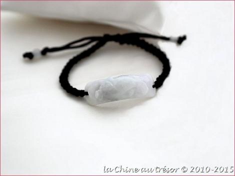 Bracelet en jade double Pi Xiu