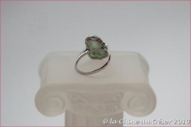 Bague Bouddha bénie jade et argent 2