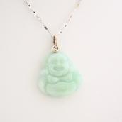 Pendentif bouddha en jade vert