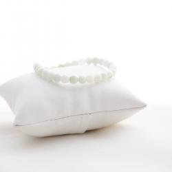 Mini bracelet boule en jade blanc