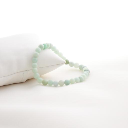 Mini bracelet boule jade  vert d'eau