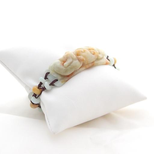 Bracelet en jade ambre Pi Xiu