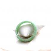 Bracelet jonc en jade vert pomme