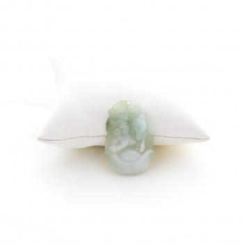 Pendentif cochon en jade