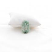 pendentif coq en jade vert