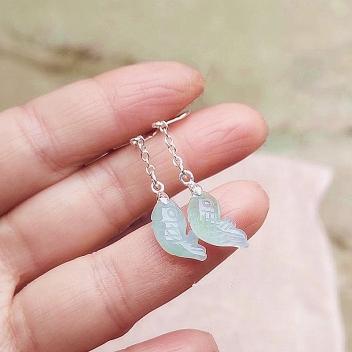 Boucles d'oreilles en jade blanc